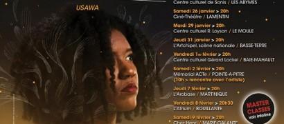 Tricia Evy en tournée en Guadeloupe avec le Cedac