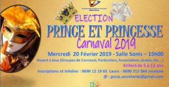 Election prince et princesse  du carnaval 2019
