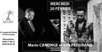 Mario Canonge et Érik Pédurand en concert au New Ti Paris