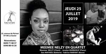 Meemee Nelzy en Quartet au New Ti Paris