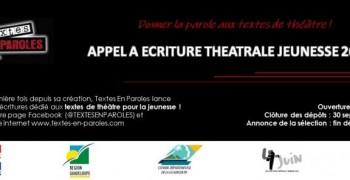 Textes En Paroles : Appel à écriture théâtrale jeunesse 2019 !