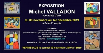 Exposition Michel Valladon du 09/11 au 01/12/2019 à St-François
