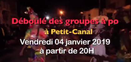 Carnaval 2019 en Guadeloupe :  grand déboulé des groupes à po à Petit-Canal