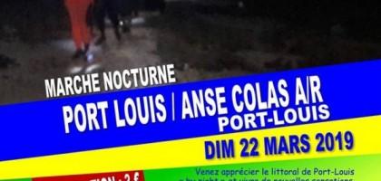 Marche nocturne : Port-louis -Anse Colat