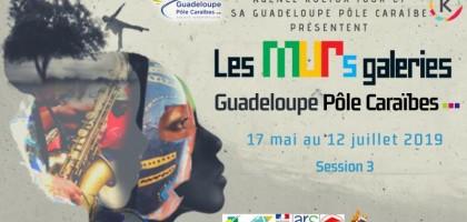 Les MURs galeries Guadeloupe Pôle Caraïbes, Session 3 du 17 mai au 12 juillet 2019 Session 3