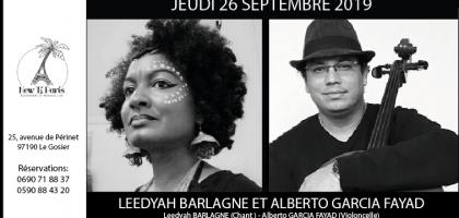 Leedyah Barlagne et Alberto Garcia Fayad en concert au New Ti Paris