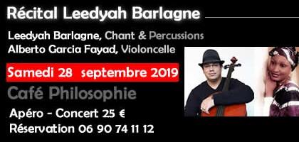 Récital Leedyah Barlagne au Café Philosophie