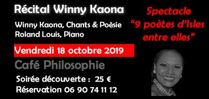 Récital Winny KAONA au Café Philosophie de Jarry