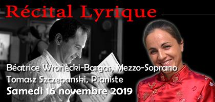 Récital Opéras Baroque et Lyrique au Café Philosophie