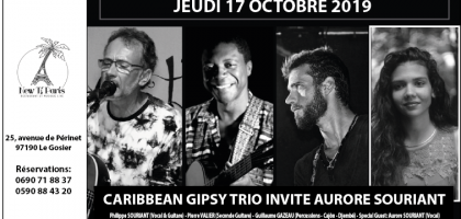 Caribbean Gipsy Trio invite Aurore Souriant au New Ti Paris