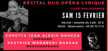 DUO OPERA LYRIQUE AU CAFE PHILOSOPHIE