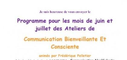ateliers communication bienveillante et consciente les 20et21 juin
