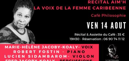 La voix de la femme caribéenne AIM'H au Café Philosophie