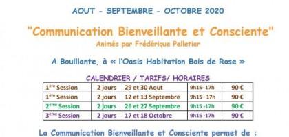 Atelier communication Bienveillante et Consciente 17 18 Octobre