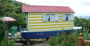 Une case sur une saintoise unique en Guadeloupe