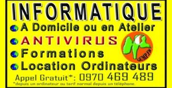 Service Informatique à Domicile, Formation, Réparation, Vente,