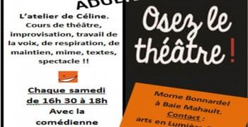 Atelier Café-Théâtre pour adultes tous les samedis avec la comédienne Céline Morel
