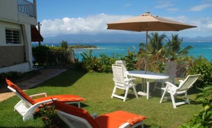 Location saisonnière T3 avec vue sur mer et jardin privatif