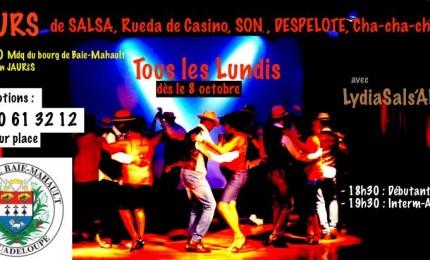 Cours de danse Salsa au bourg de Baie-mahault